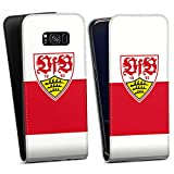 DeinDesign Flip Hülle kompatibel mit Samsung Galaxy S8 Plus Duos Tasche Hülle VfB Stuttgart Offizielles Lizenzprodukt Logo