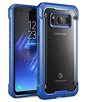 SUPCASE Samsung Galaxy S8 Active Case Unicorn Beetle Series Premium Hybrid Protective Frost Clear Case for Samsung Galaxy S8 Active 2017 Release  Not Fit Regular Galaxy S8/S8 Plus   Frost/Navy