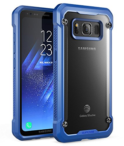 SUPCASE Samsung Galaxy S8 Active Case, Unicorn Beetle Series Premium Hybrid Protective Frost Clear Case for Samsung Galaxy S8 Active 2017 Release (Not Fit Regular Galaxy S8/S8 Plus) (Frost/Navy)
