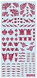 ハイキューパーツ タトゥーデカール02 スカル/レッド 1枚入 プラモデル用デカール TTD-02-RED