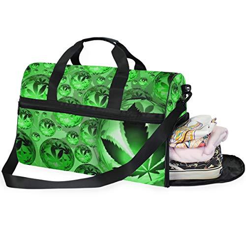 LUPINZ Pot Weed Snookie Orbe Cannabis Bolsa de Viaje de Gran Capacidad, Bolsa de Deporte, Bolsa de Gimnasio, Fitness y Equipaje, para Mujeres y Hombres