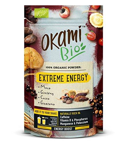 "Okami Bio\""Extreme Energy\"" Superfood Powder Mix 200 gr   Mezcla Vegana Orgánica de Maca, Cacao, Guaraná y Ginseng   Te da el mismo impulso que una bebida energética, pero 100{372ea9937a2b1ada7a8292e19b3895090c5c0ae24e70c059ab604b4ff0cf7939} natural."