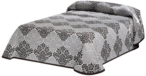 Eysa Bettüberwurf, Polyester, 200 x 90, 5 Prozent aus Acrylfaser 5 Prozent Baumwolle Barroque Tagesdecke, 07 braun