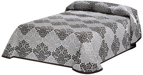 Eysa Bettüberwurf, Polyester, Jaquardgewebe, 235 cm, 90 Prozent 5 Prozent aus Acrylfaser 5 Prozent Baumwolle Barroque Tagesdecke, 07 braun