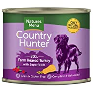 Natures Menu Country Hunter Dog Farm-Reared Turkey with Superfoods Tins 6x600g