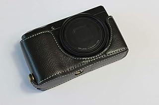 RICOH リコー PEN GR DIGITAL III GR3 カメラケース カメラカバー カメラバッグ カメラホルダー 本革、【KOOWL】ハンドメイドの牛革カメラベース保護カバー、付属品:ハンドストラップ、スタイリッシュ、コンパクト、防水 防振 (ブラック)