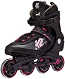 K2 Skate Women's Kinetic 80 Pro Inline Skate, Black Pink, 8