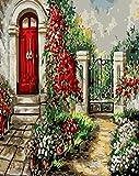 DIY para colorear por números dibujo de puerta sobre lienzo regalo hecho a mano pintura al óleo por números decoración de paisaje para el hogar W7 60x75cm