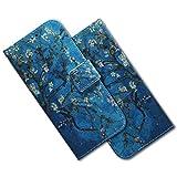 MRSTER Nokia 3.2 Hülle Leder, Langlebig Leichtes Klassisches Design Flip Wallet Hülle PU-Leder Schutzhülle Brieftasche Handyhülle für Nokia 3.2. EF PU- Blue Almond