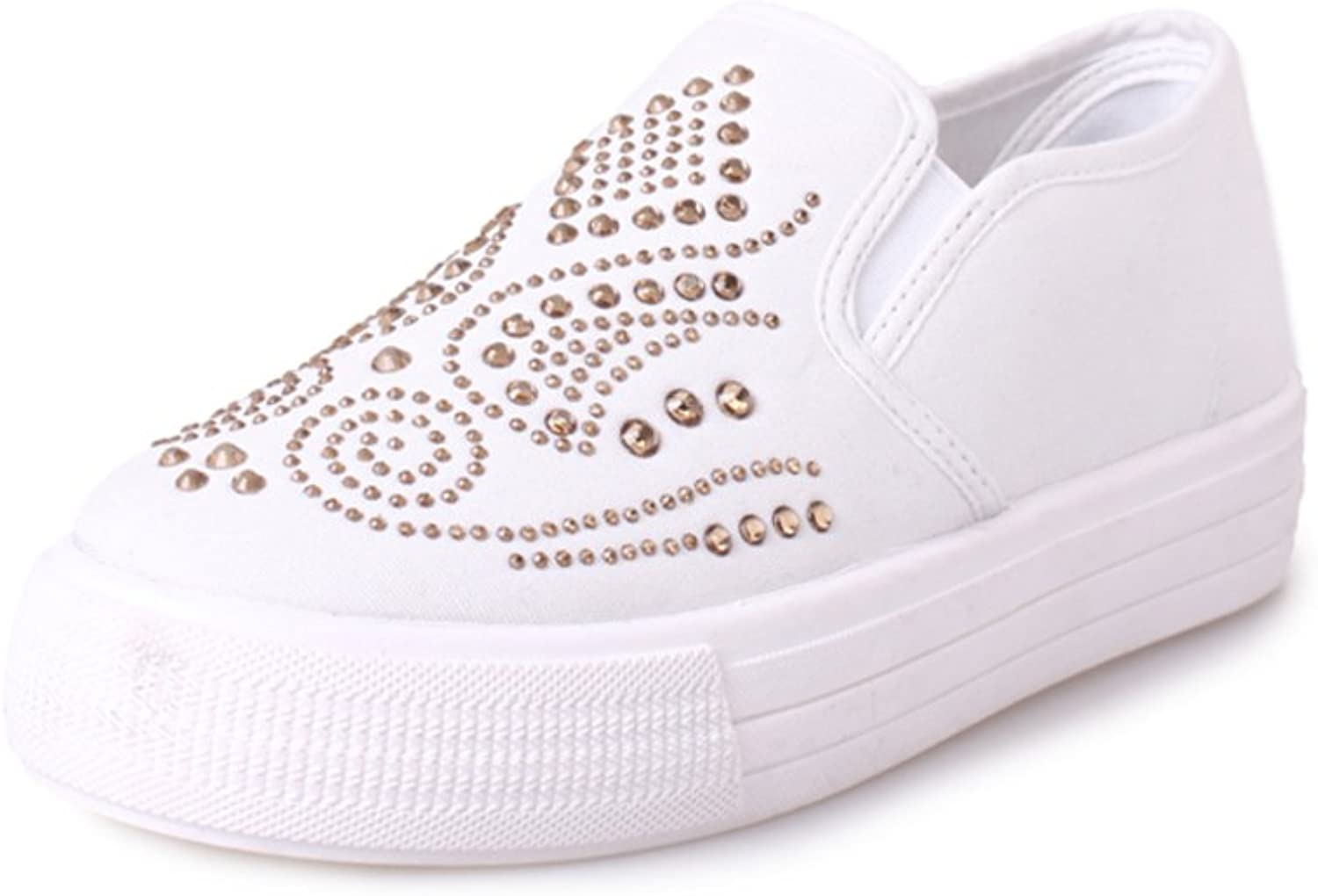 Huhuj Spring low thick-soled canvas shoes Leisure shoes