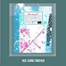 Monsta X - [Shine Forever] 1st Repackage Album A Version - Shine Forever CD+1p Folding Bromide(A Ver Only)+88p Booklet+1p Photocard+9p Sticker K-POP Sealed