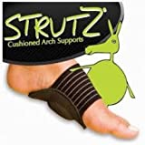 STRUTZ CUSHIONED ARCH FOOT SUPPORT Helps Decrease Plantar Fasciitis Pain 1 Pair
