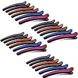 Clip Capelli,24 Pezzi Anatra Becco Clip Fermagli Capelli Coccodrillo Multicolore Forcina Antiscivolo Fermagli,per Donne Styling da Parrucchieri Articoli da Salone Casa(6 Colori Misti)