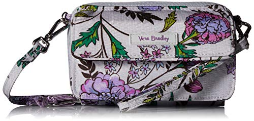 Vera Bradley Lighten Up All in One Crossbody Purse with RFID Protection, Lavender Botanical