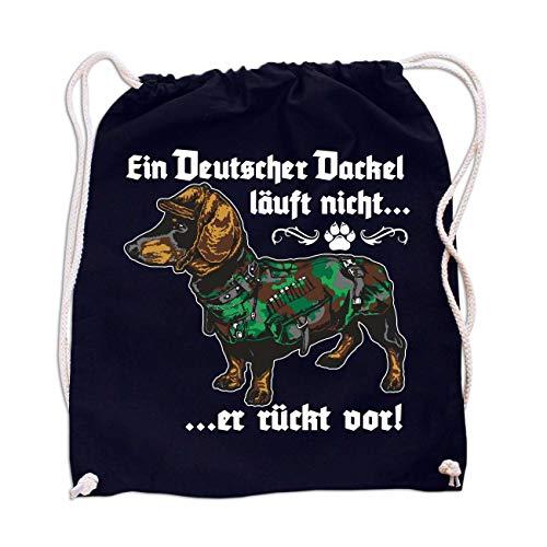 Rucksack EIN Deutscher Dackel läuft Nicht er rückt vor