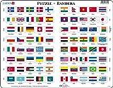 Larsen L2 Rompecabezas de la Bandera, edición en Español, Puzzle de Marco con 80 Piezas