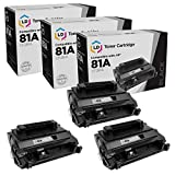LD Compatible Toner Cartridge Replacement for HP 81A CF281A (Black, 3-Pack)