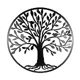 Décoration murale, taille XXL; en métal, au motif d'arbre de vie, à accrocher, diamètre: 60cm