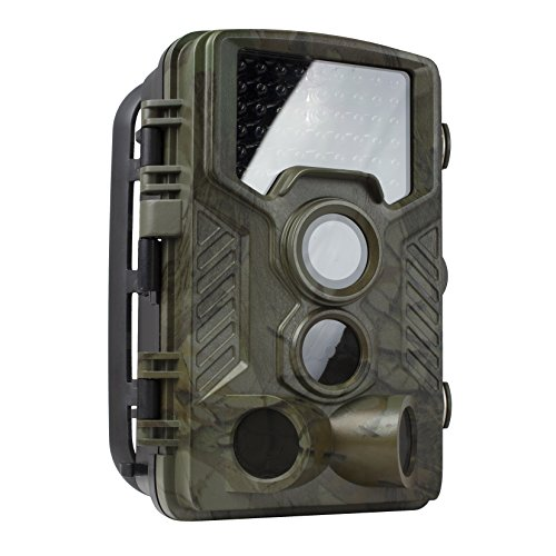 REXING Woodlens H1 HD 16MP Wildlife Camera Day & Night Ultra Fast Motion Detection, 0.2s Trigger Speed, LED Flash Photo, Video Trail Cam Hunting Game Personal Surveillance Cam