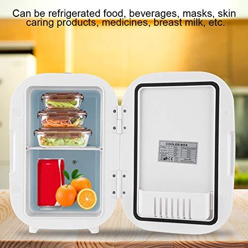 SUCIE Refrigerador eléctrico, refrigerador para automóvil, portátil para medicamentos de Maquillaje, vehículos, Alimentos(Pink)