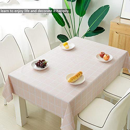 Traann Tafelzeil, vierkant, waterdicht, langwerpig, rechthoekig tafelkleed, woondecoratie voor feestjes, bruiloften 137*200 C