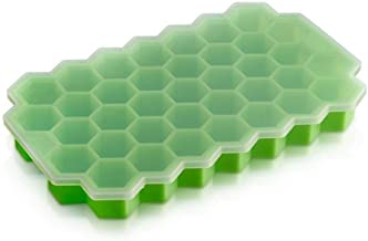 Ice Tray Food Grade Silicone Gel Flexible 37 Grids Trays with Lid Mini Cocktail Whiskey Ice Cube Mold Storage Containers G...