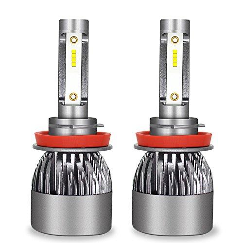 Kit D'ampoules De Phare De Voiture De LED - Kit De Conversion D'ampoules De Kit De Phare De Hi/Lo LED 12V / 24V Remplacent Pour Des Lampes D'halogène,H11