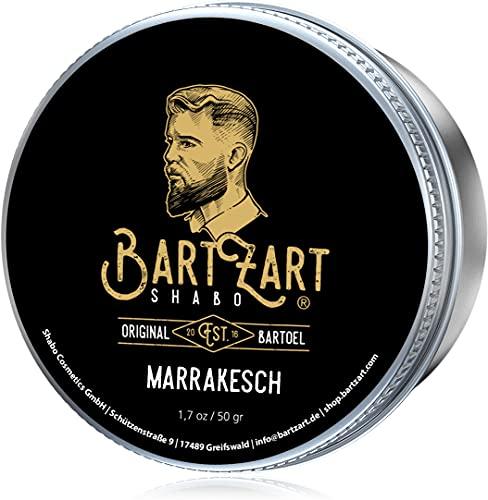BartZart Shabo cera para barba con madera de cedro I 50g bálsamo para barba para hombres I Bálsamo para barba con aceite de argán para un crecimiento saludable I directamente del peluquero