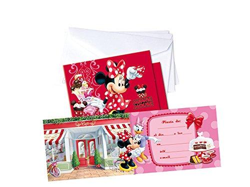 Minnie Mouse - 6 Invitaciones con sobre (Verbetena 014000602)