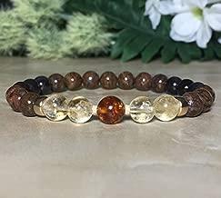 Womens 8mm Baltic Amber Bracelet, Genuine Sugilite Bracelet, Pietersite Bracelet, Citrine Bracelet, Protection Bracelet, Heart Chakra, Crown Chakra