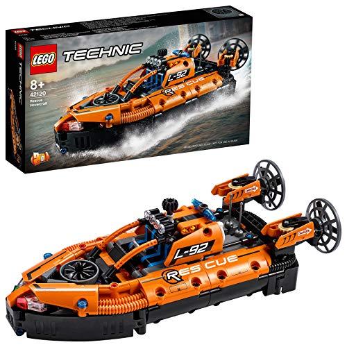 LEGO42120Technic2 en 1deAerodeslizadordeRescateenAvión,JuguetedeconstrucciónparaNiñosyNiñasdea Partir de 8años
