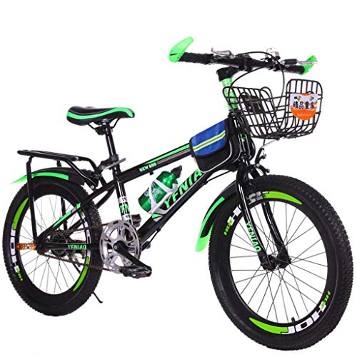 24 inch Mountain Bike 21 Speed Double Disc Brake Suspension Fork Rear Suspension Anti-Slip Bikes Aluminum and High-Tensile Steel Frame Mountain Bikes (Green)