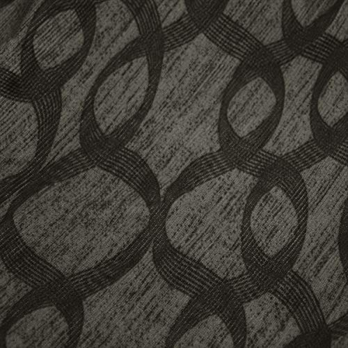 Russo Tessuti Copridivano Copri Divano Sofà Cover Linea Ambro Elasticizzato Fantasia Ray ONE-580 Grigio-Coppia Copricuscini Seduta