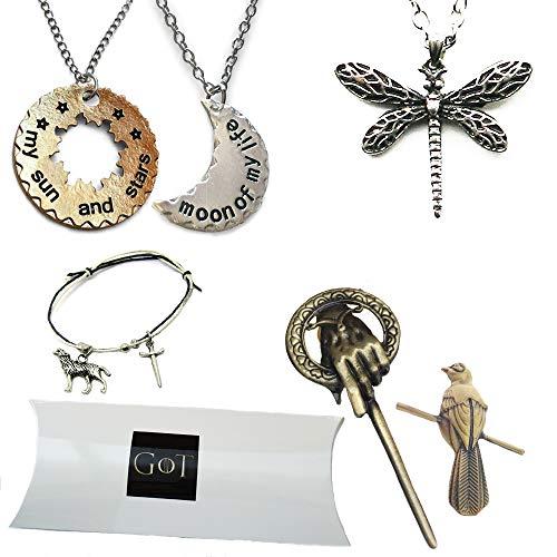 Orion Creations Game of Thrones 6 StŸck Geschenkpackung. Halsketten, ArmbŠnder und Broschen