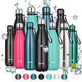 Amazon Brand - Umi Botella Agua Acero Inoxidable, Termo 500ml, Sin BPA, Islamiento de...