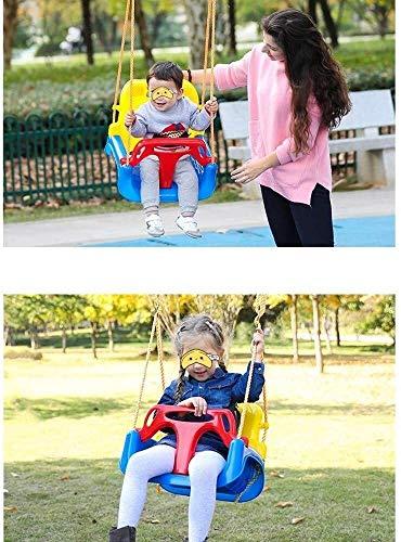 HYM Outdoor-Schaukel, Kinderschaukel Indoor Outdoor 3 in 1 Baby-Schwingen im Freien Hängesessel Baby-Schaukelsitz einfach einzurichten Seil hängend Baum im Freien Schaukel