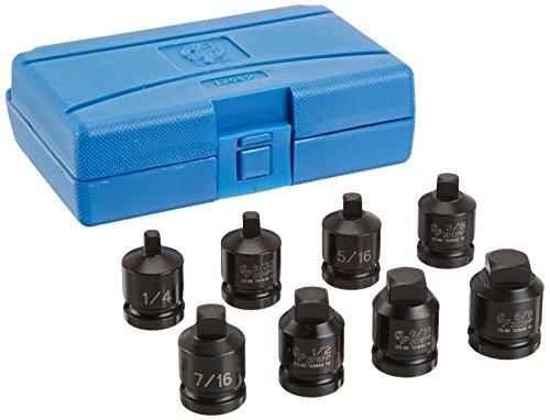Grey Pneumatic (1308P 1/2' Drive 8-Piece Pipe Plug Socket Set