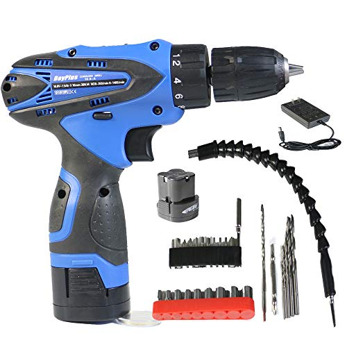 Household Cordless Drill 3/8' 16.8V 35N.m Lithium-Ion Combi Drill, Electric Screwdriver, LED Work Light, Quick Change Battery & Charger Included, for DIY, Handicraft