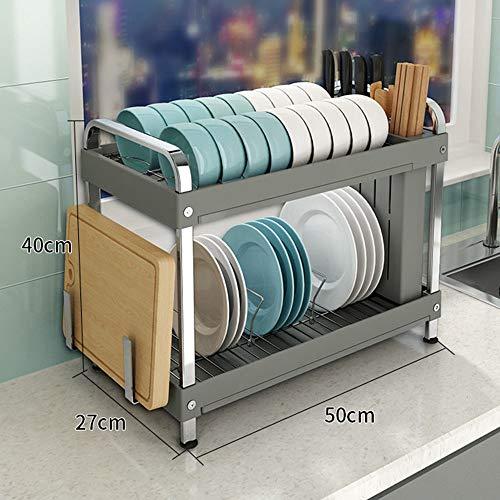 Support de plat de 2/3 couches, support de cuisine multi-fonction de support de couteau multifonctionnel de support de drain en plastique de pp / support de planche à découper / économiser de l'espa