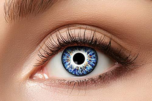 Eyecatcher 84079341-a82 - Natürliche Farbige Kontaktlinsen, 1 Paar, für 12 Monate, Hellblau, Karneval, Fasching, Halloween