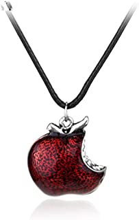 Men's necklace Once Upon A Time Necklace Regina Mills One Bite Red Poison Apple Pendants Necklaces For Women Fashion Jewelry Collar Accessories