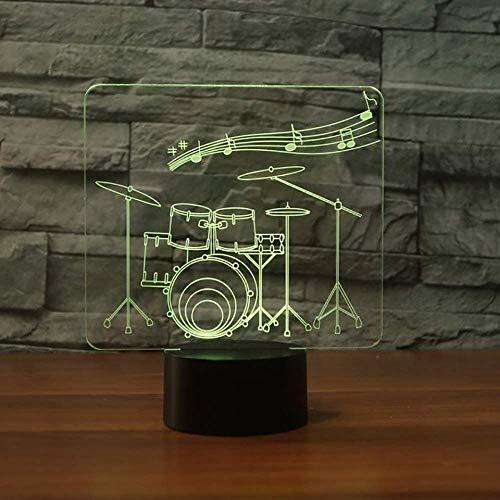 Neuheit Nachttisch / 3D Alphabet Buchstabe Led Nachtlicht / 7 Farben ändern/USB Tischlampe Kinder Schlaf Beleuchtung/Geschenke Basketball-Gymnastik-Trommel