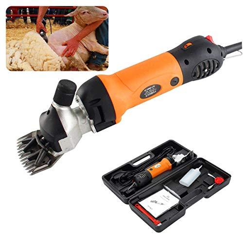 650W Schafschere Elektrische Clippers, professionelle elektrische Schafschere Ziegenschere fo Farm Viehhaar Fellpflege, 6 Geschwindigkeit 13 Zähne