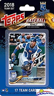 Kansas City Royals 2018 Topps Baseball EXCLUSIVE Special Limited Edition 17 Card Complete Team Set with Salvador Perez, Jorge Soler & Many More Stars & Rookies! Shipped in Bubble Mailer! WOWZZER!
