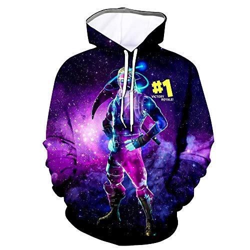 Youth 3D Printed Hooide Floss Sweatshirt for Ninja Boys Galaxy Kids-XS(8-9)