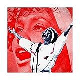 Whitney Houston Poster, Dekoration, Gemälde, Leinwand,