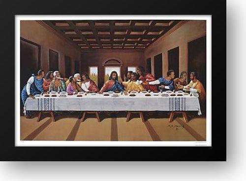 Last Supper (black) 40x28 Framed Art Print by Mavruk, Hulis