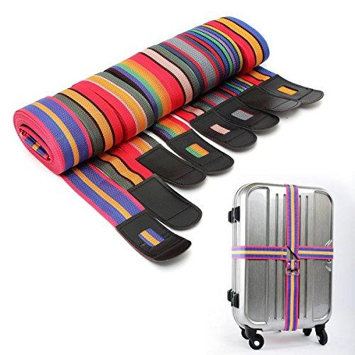 Bazaar verstelbare bagage koffer cross riem reizen bagage tas riem metalen gesp