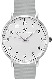 Olivia Womens Numbers Watch - for Nurses Large Face Analog Easy to Read with Second Hand Silicone Band