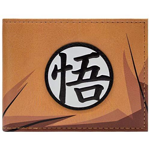 Cartera de Dragon Ball Z Goku'S Kanji Symbol Naranja